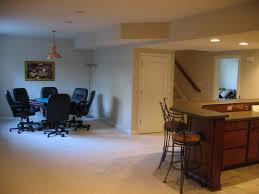 interior exciting modern basement interior decoration using white