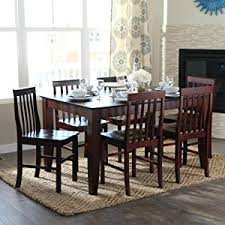 60 inch kitchen table amazon com walker edison 60 espresso wood dining table tables