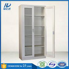 office furniture cold steel powder coating glass door modern steel