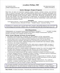 Sample Of Management Resume by Sample It Manager Resume 8 Examples In Word Pdf