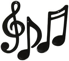 Musical Note Decorations Amazon Com Molded Plastic Musical Notes Black 3 Pkg
