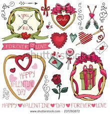 Valentine S Day Vector Decor set gothic romantic icons valentines day stock vector 550369450