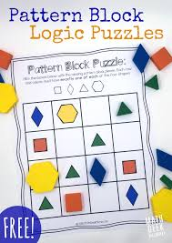 pattern block puzzles free pattern blocks logic puzzles and