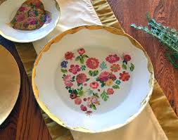 decoupage blog tutorial sweet heart plate how to decoupage on glass running with sisters