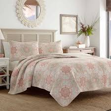 Palm Tree Bedspread Sets Greenland Home Fashions Bella Ruffle 2 Piece Quilt Set Hayneedle