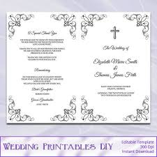 Wedding Booklet Templates Wedding Booklet Templates Wedding Mass Jayceefinecards Ie Free
