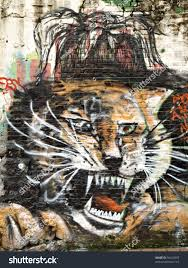 roaring tiger street side wall painting stock photo 56412955 roaring tiger street side wall painting on white wall from macau china