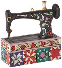 jim shore heartwood creek sewing machine resin