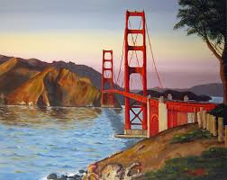 buy a handmade golden gate bridge oil painting made to order
