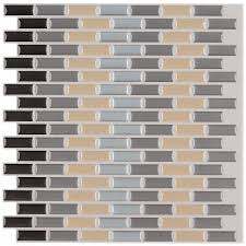 peel and stick 12 inch mosaic tiles pack of 6 peel u0026 stick