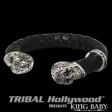 braided leather cuff bracelet images Mens braided leather bracelets tribal hollywood gif
