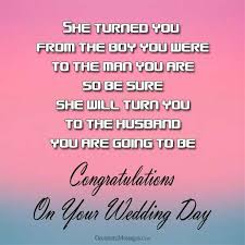 wedding wishes for the and groom wedding messages for groom occasions messages