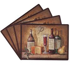 Amazoncom Benson Mills Bordeaux Percent Cork Placemat Set - Dining room table placemats