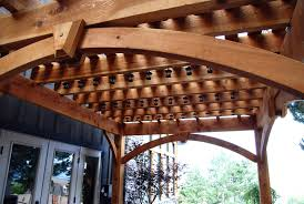 Shade For Pergola by Roof Designs For Outdoor Living Timber Frame Shade Creations