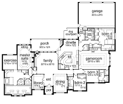New Construction House Plans Floor Plans Aflfpw07052 1 Story New American Home With 4