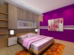 decorate a room with purple colour simple bedroom wall paint