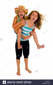 naughty preteens pretty preteen girls cut out stock images pictures alamy