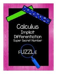 super secret number puzzle implicit differentiation calculus