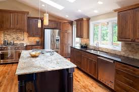 kitchen pictures cherry cabinets pictures of kitchens with cherry cabinets beige granite kitchen