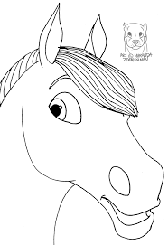 horse face coloring page glum me
