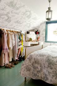 Bedroom Wall Clothes Rack Attic Bedroom With Clothes Rack Organizing With Useful Clothes