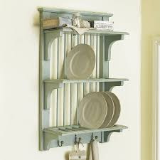 rustic wall plate rack with hooks by dibor notonthehighstreet com