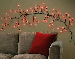 branch wall decor shenra com striking 64 red led wall branch lights stunning shabby chic