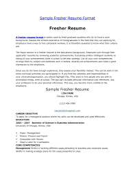 Best Resume Model For Freshers by Resume Format For Graduates Freshers