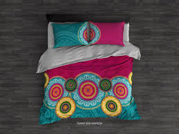 hippie mandala bedding set bohemian duvet cover set boho chic