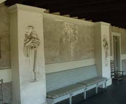 Bench Built Into Wall Daniel Chester French Chesterwood
