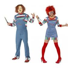 Chucky Halloween Costumes Ladies And Mens Chucky Doll Film Couples Halloween Horror Fancy