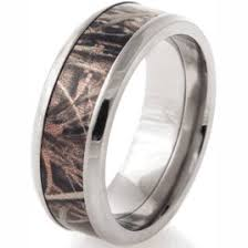 camouflage wedding bands men s realtree titanium max 4 wedding band camo wedding rings