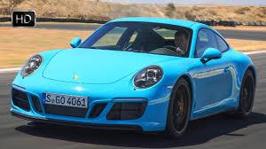 porsche 911 carrera gts spoiler 2018 porsche 911 carrera gts coupe miami blue design u0026 driving