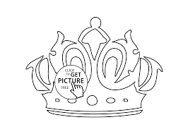 crown coloring page for girls printable free coloing 4kids com