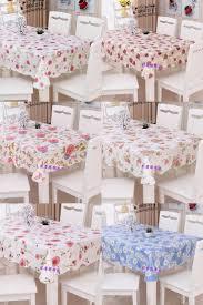 Elasticized Tablecloths Modren Kitchen Table Covers Vinyl Oilproof Wipe Clean Pvc