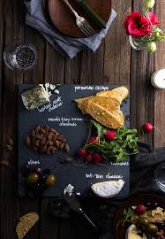 chalkboard cheese plate diy slate cheeseboard for 3 say yes