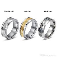 s day rings s day vintage tungsten steel golden ring