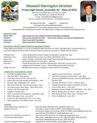 athletic resume gallery of sports resume template athlete resume for college