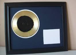 Vinyl Record Wall Mount Gold Record Lp Album Plated Platinum Disc