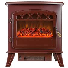 Realistic Electric Fireplace Logs by Akdy 20 In Freestanding Electric Fireplace Stove Heater In Red