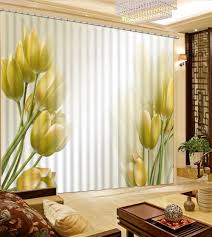 Elegant Living Room Curtains Online Get Cheap Yellow Window Curtains Aliexpress Com Alibaba