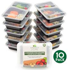 Small Storage Containers For Sale Amazon Com 10 Pack 2 Compartment Bpa Free Meal Prep Containers