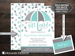 gift card bridal shower gift card shower invitation wedding shower bridal shower
