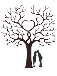 wedding tree wedding guest book fingerprint wedding tree lover painting
