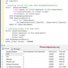 Sql Declare Temp Table Difference Between Cte Temp Tables Derived Tables