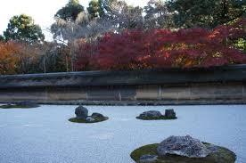 Ryoanji Rock Garden Rock Garden Outside Of Tea House At Ryoanji Temple Picture Of