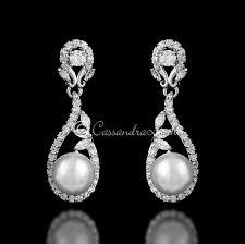 clip on bridal earrings 17 best clip on wedding bridal earrings images on