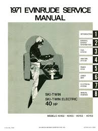 1971 evinrude 40hp outboards service manual 4750 pdf bearing