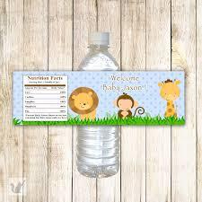 printable personalized jungle safari zoo water bottle labels