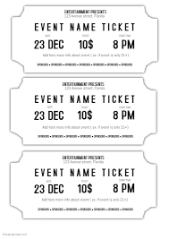 printable scale tickets ticket template printable movie ticket templates free editable